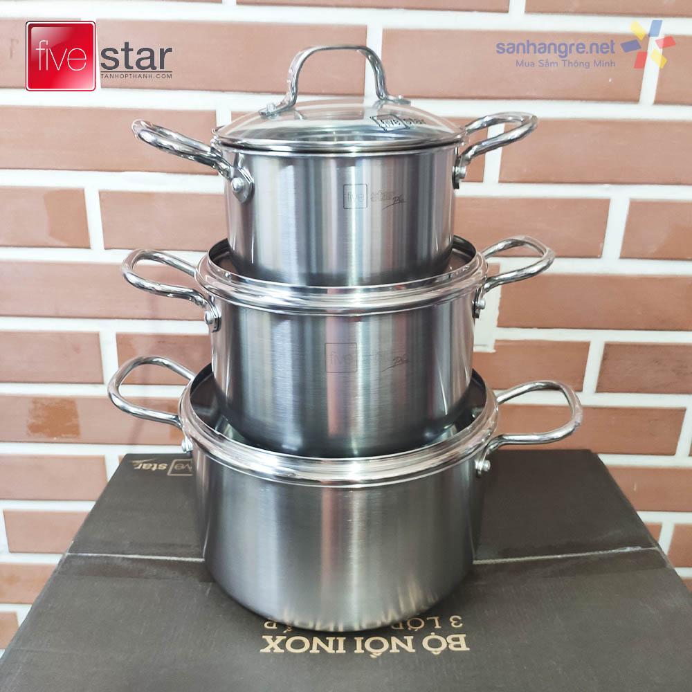 Bộ nồi xửng và chảo chống dính Inox 304 Fivestar Plus FPB5006