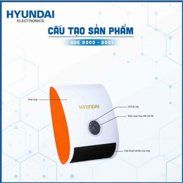 Máy sưởi đa năng Hyundai HDE-8000W/G công suất 2000W