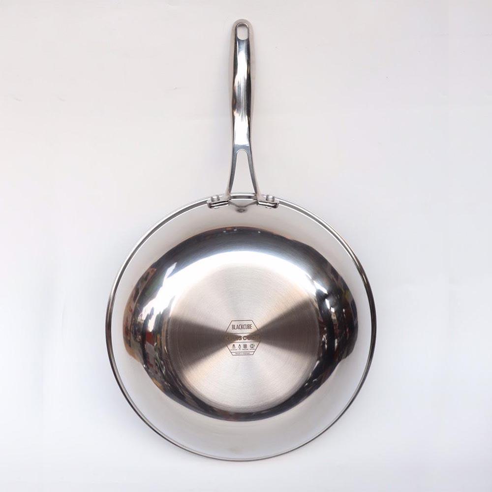 Chảo chống dính Inox 304 J&K Blackcube nhập khẩu 26cm dùng bếp từ