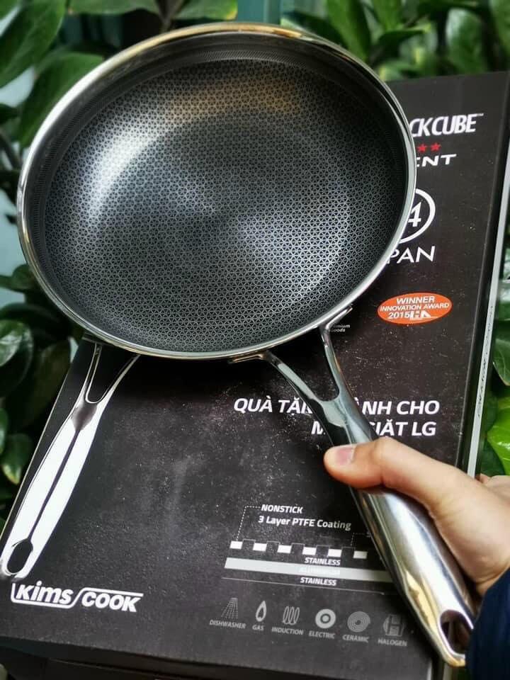 Chảo chống dính Inox 304 đường kính 24cm Kimscook Hàn Quốc