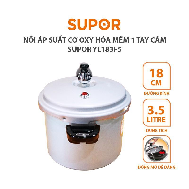 Nồi áp suất cơ dùng được bếp từ 18cm Supor YL183F5 dung tích 3.5 lít