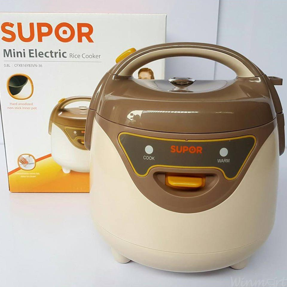 Nồi cơm điện mini Supor 0.8 lít CFXB16YB3VN-36