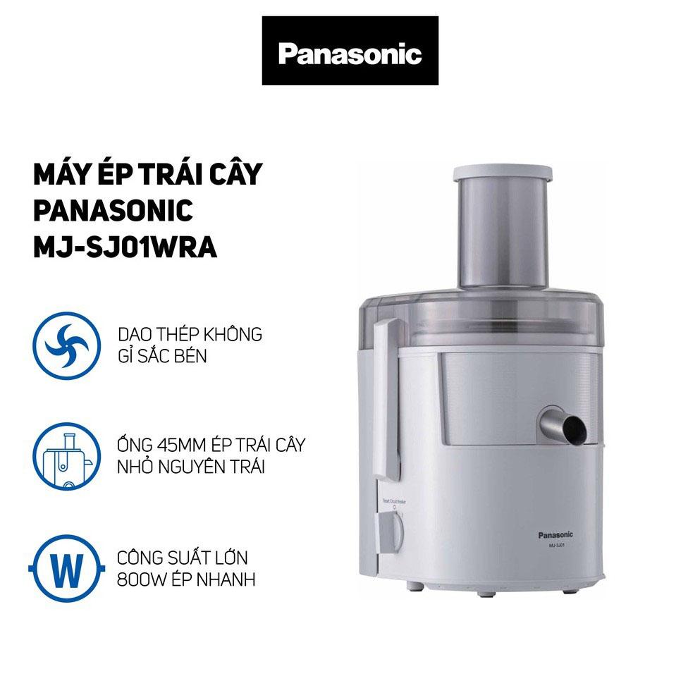 Máy ép trái cây cả quả Panasonic MJ-SJ01WRA 800W dung tích 1.5 lít