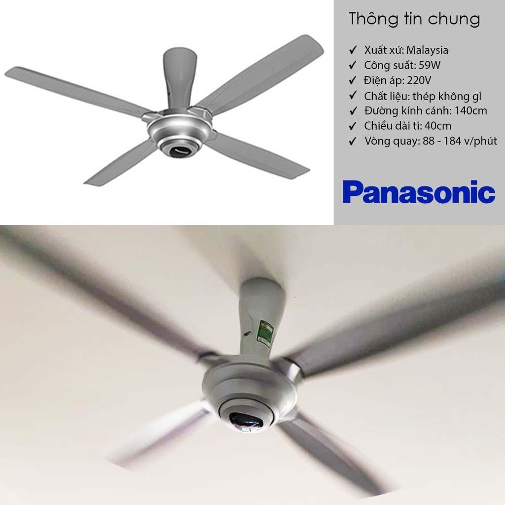 Quạt trần 4 cánh cao cấp Panasonic F-56MPG kèm điều khiển từ xa