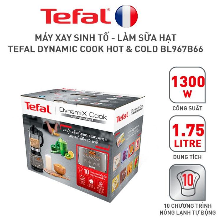 Máy xay nấu làm sữa hạt 10 chương trình tự động Tefal Dynamix Cook BL967B66 1300W