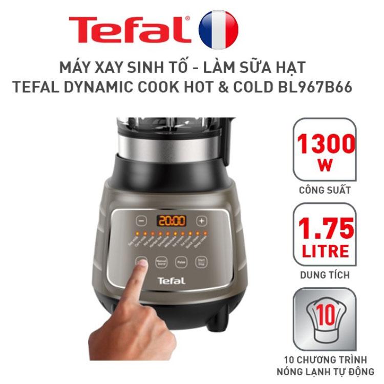 Máy làm sữa hạt 10 chương trình tự động Tefal Dynamix Cook BL967B66 1300W