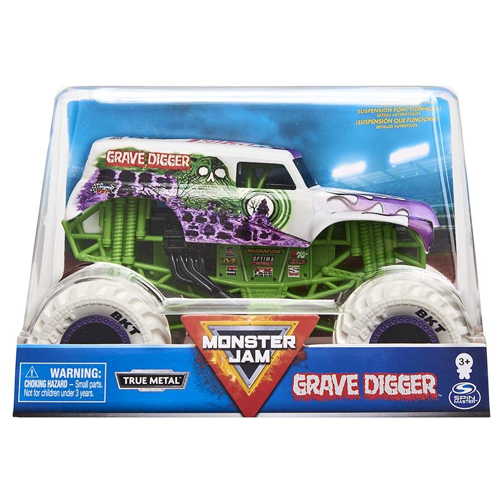 Xe tải mô hỉnh Monster Jam True Metal tỷ lệ 1:24 - Grave Digger