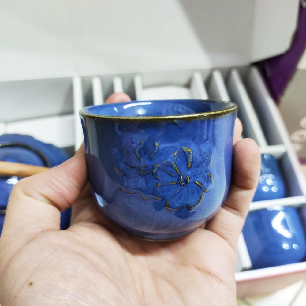 Bộ ấm trà hoa văn chạm nổi Dong Hwa Hàn Quốc TSETB06