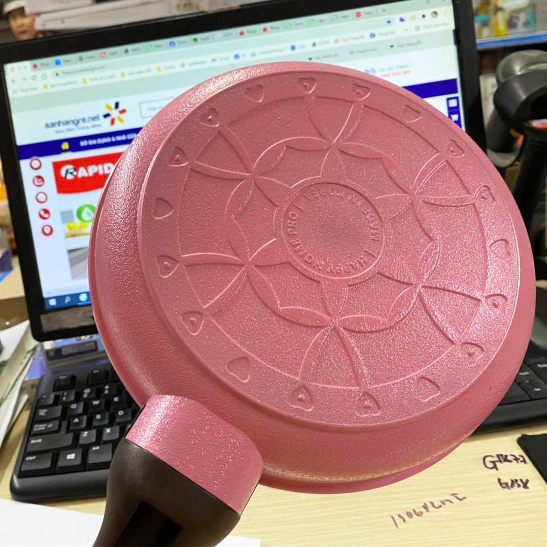 Chảo chống dính tráng sứ Galaxy 7 lớp Ceramic Happy Home Pro 20cm
