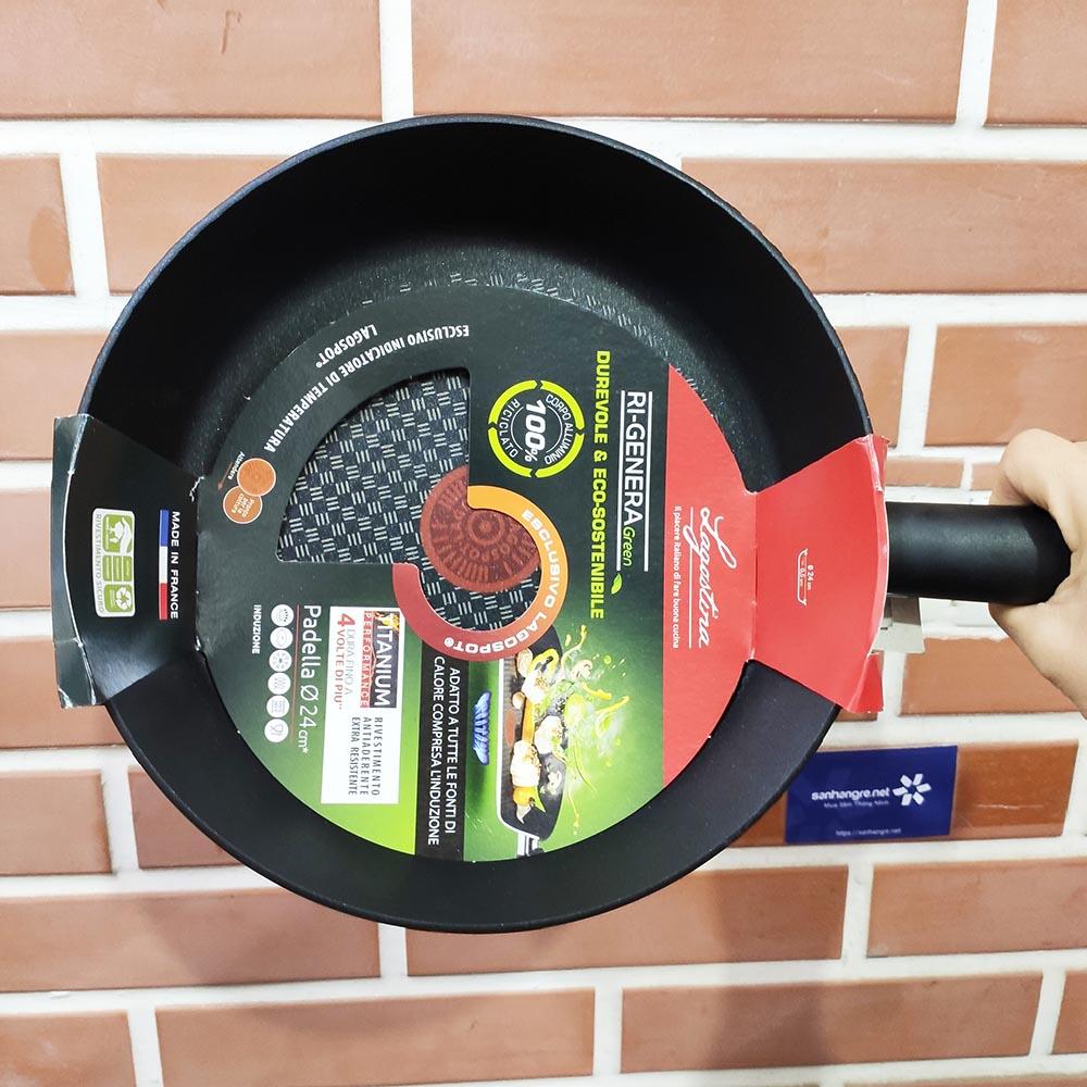 Chảo chống dính Lagostina Ri-Genera Green Titanium 24cm