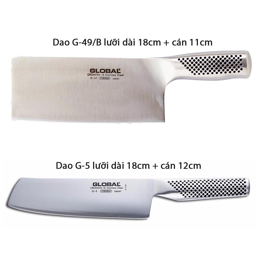 Bộ dao, kéo và thanh liếc 7 món cao cấp Global Yoshikin