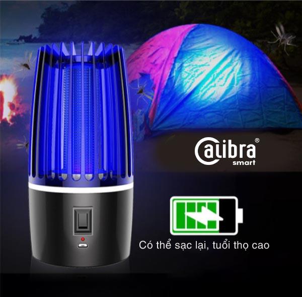 Đèn ngủ bắt muỗi tích điện thông minh Calibra BG-001 sạc USB