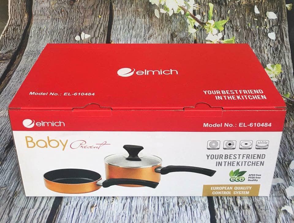 Bộ nồi chảo chống dính 16cm Elmich Smartcook Baby EL-610484 KM