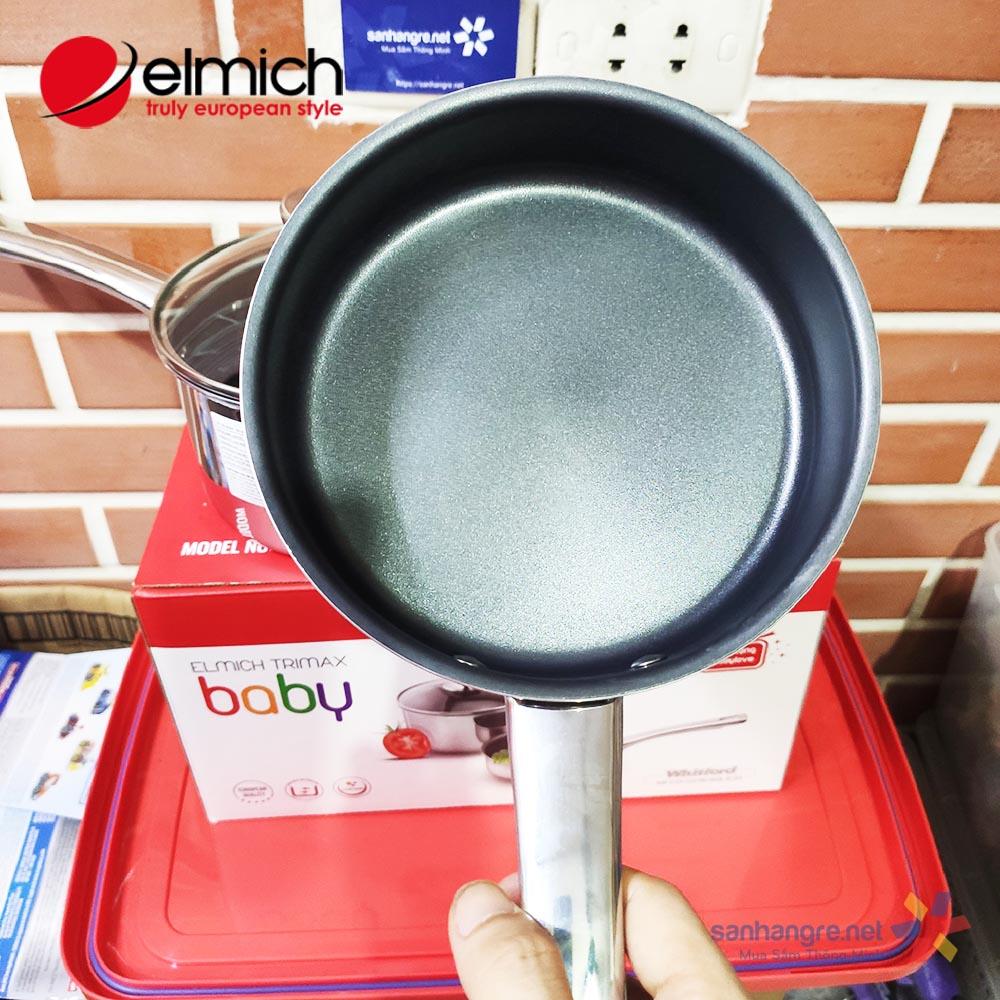 Bộ nồi và chảo Inox 304 chống dính thân đúc đáy liền Elmich Trimax Baby size 16cm EDA-035