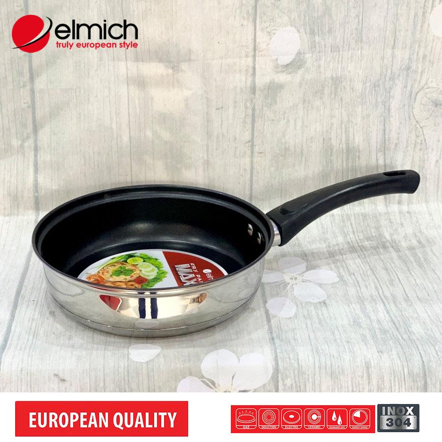 Chảo inox 3 đáy chống dính Elmich MaxB 16cm EL-3765 hàng chính hãng