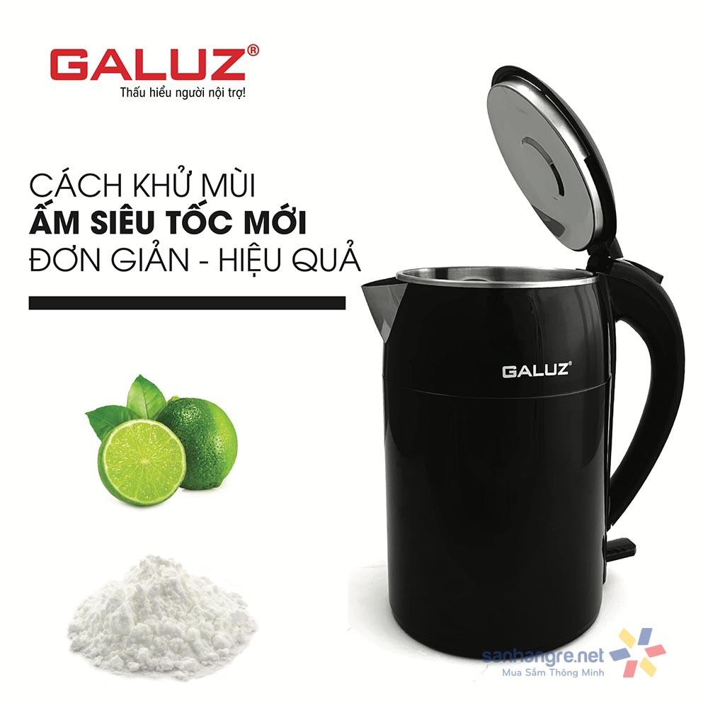 Ấm điện siêu tốc cách nhiệt Galuz GK-02 dung tích 1.8L