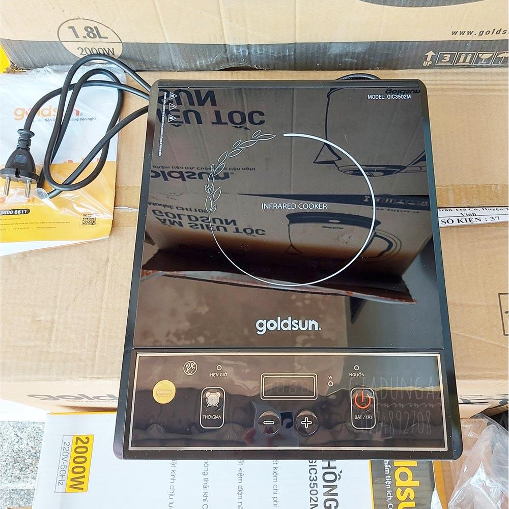 Bếp hồng ngoại Goldsun GIC3502M công suất 2000W
