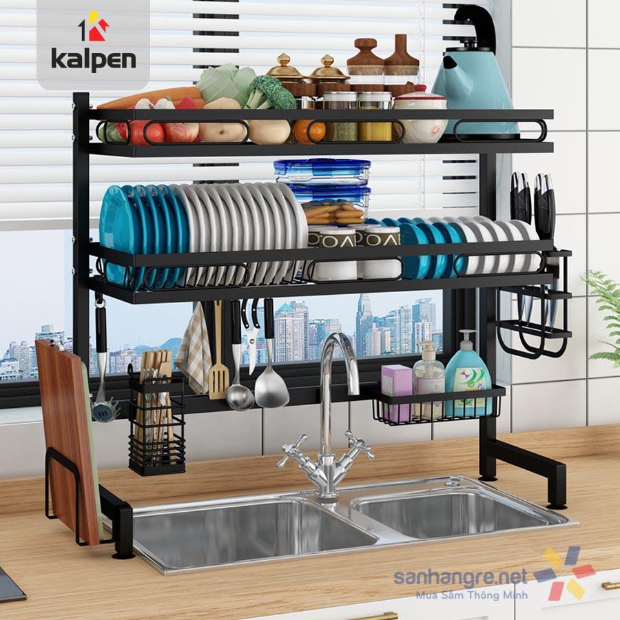 Kệ bát đĩa trên bồn rửa thông minh Kalpen 2 tầng