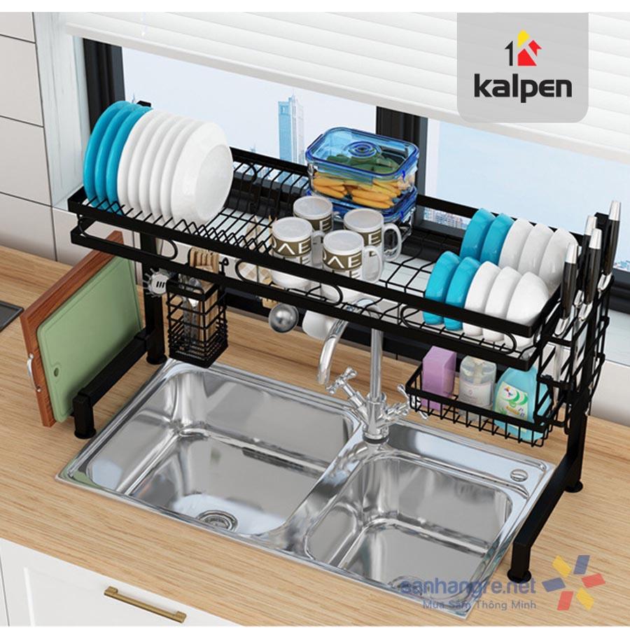 Kệ bát đĩa trên bồn rửa thông minh Kalpen 1 tầng