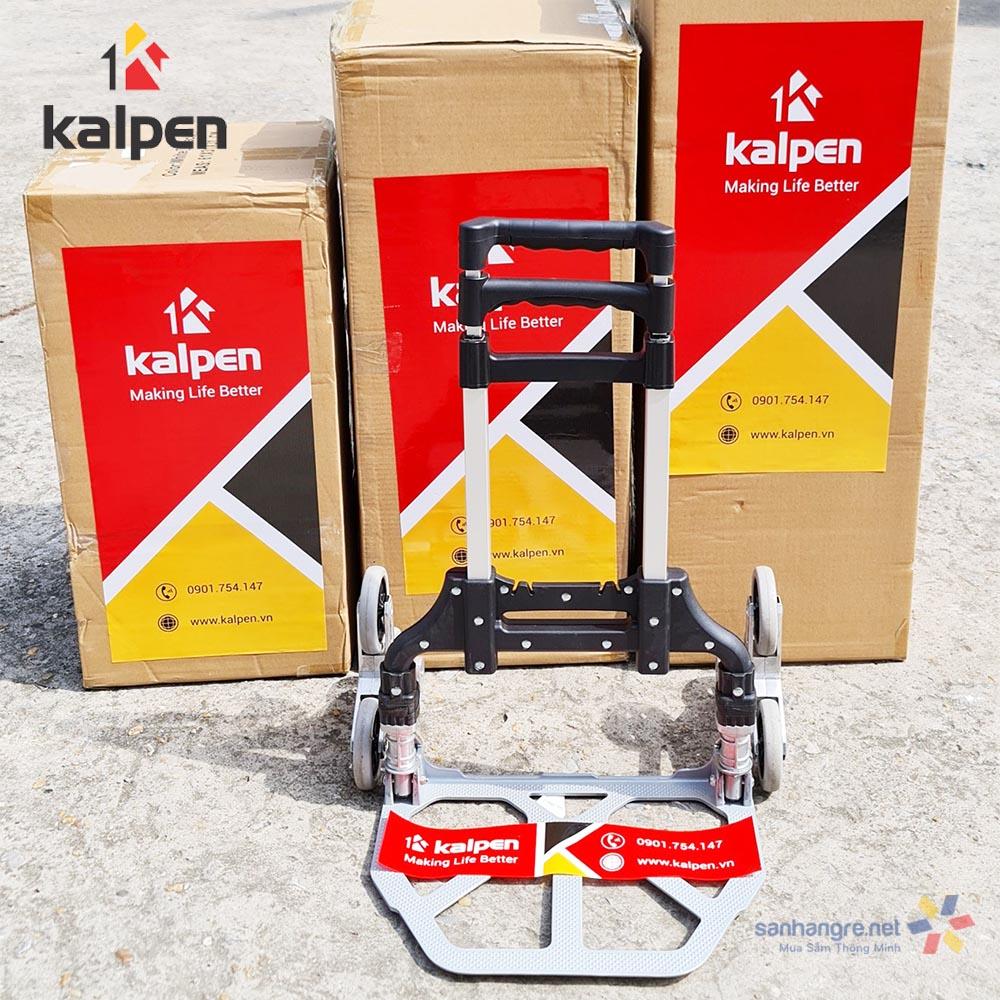 Xe kéo hàng cầu thang gấp gọn thông minh Kalpen 6 bánh xe