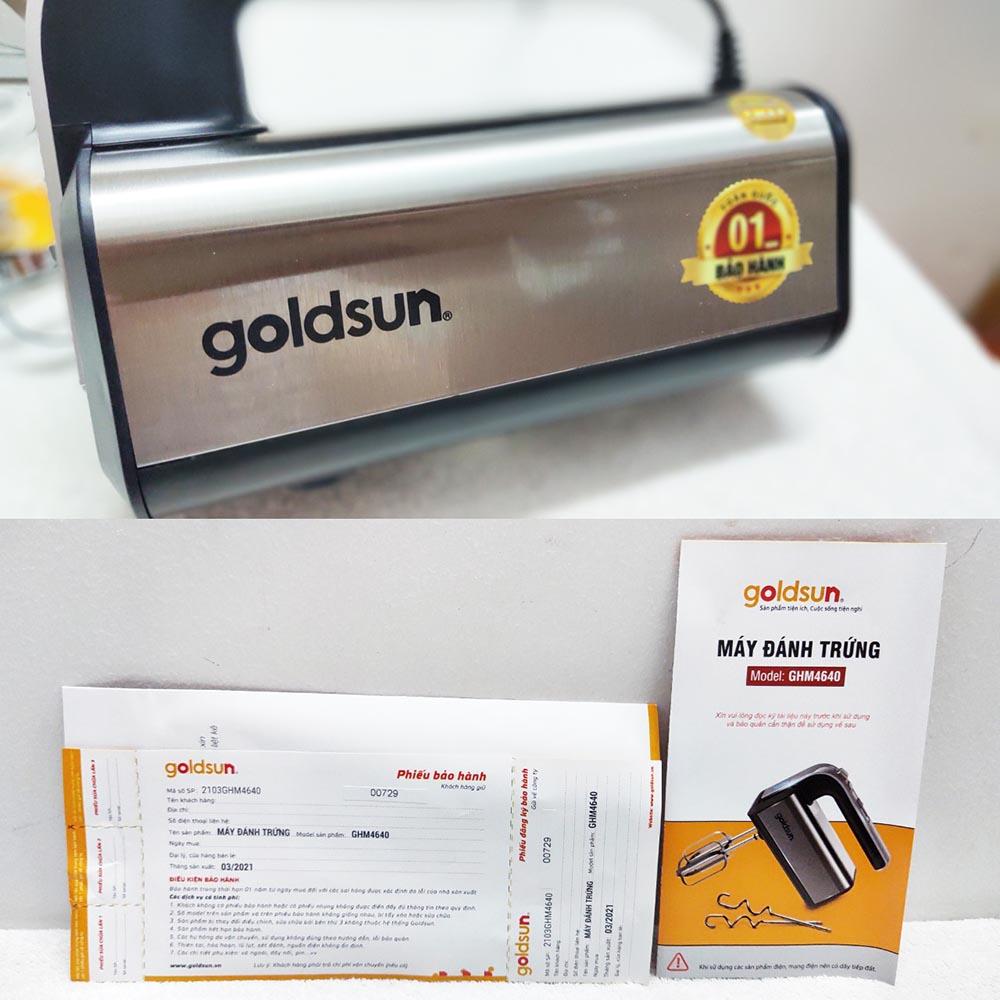 Máy đánh trứng cầm tay Goldsun GHM4640 công suất 350W