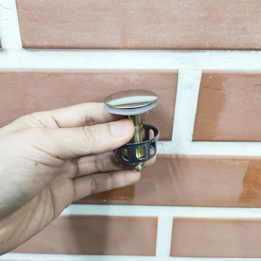 Nút Inox lõi đồng Lyncen chặn nước, chặn rác cho chậu rửa, lavabo cao cấp thông minh