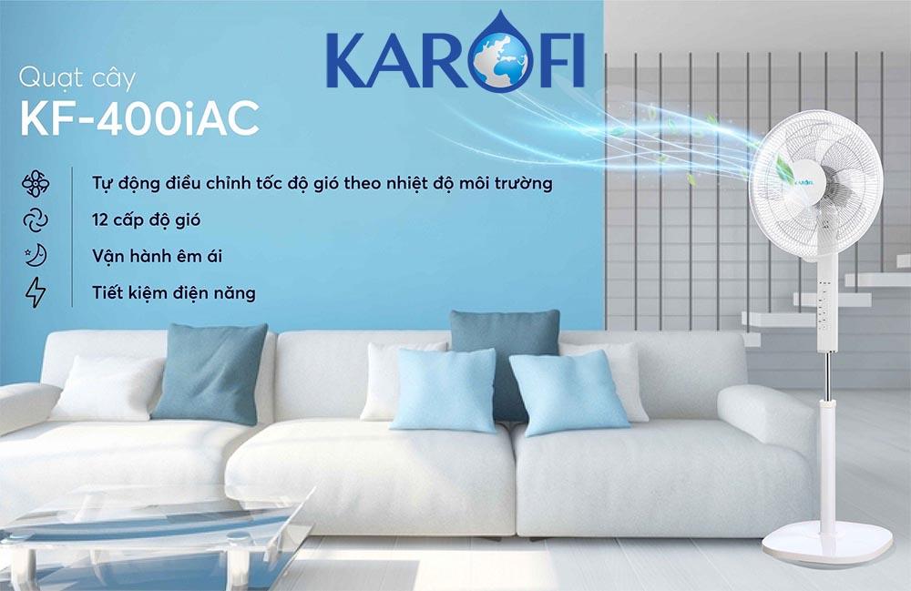 Quạt cây thông minh tự điều chỉnh tốc độ gió Karofi KF-400iAC