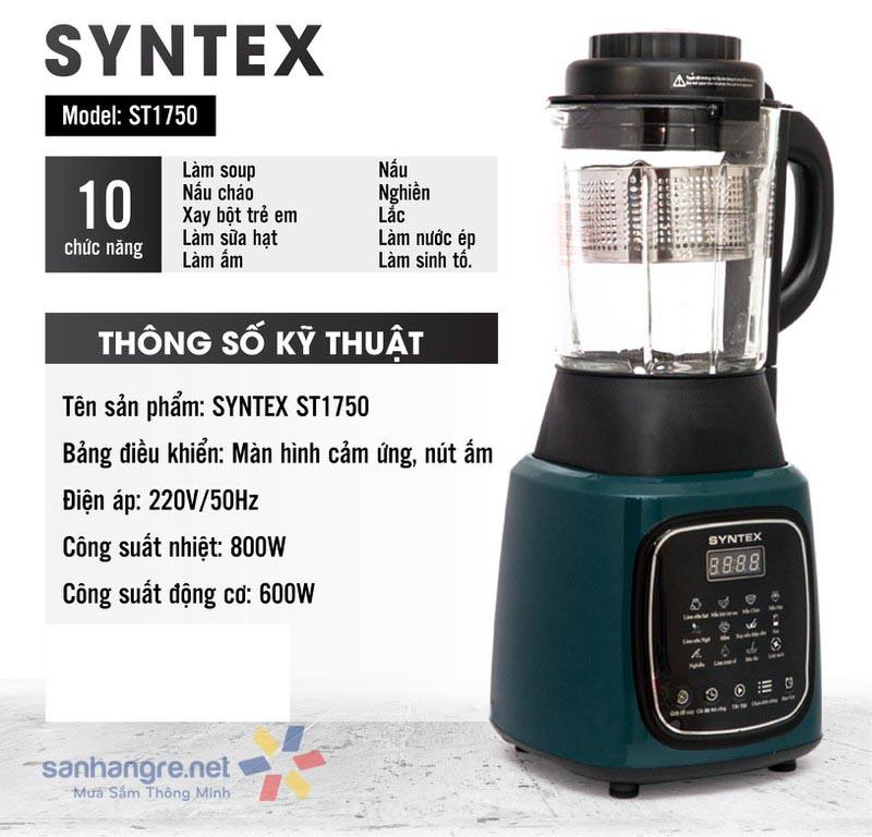 Máy xay nấu sữa hạt Syntex ST-1750
