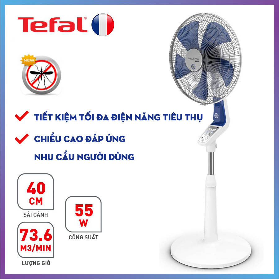 Quạt cây chức năng đuổi muỗi Tefal VF6410-71 có chức năng đuổi muỗi