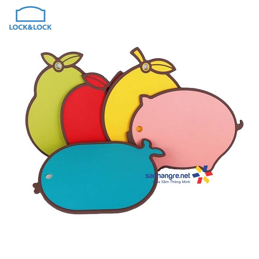 Thớt nhựa Lock&lock VITAMIN chống trượt Gondol Turkey hình hoa quả