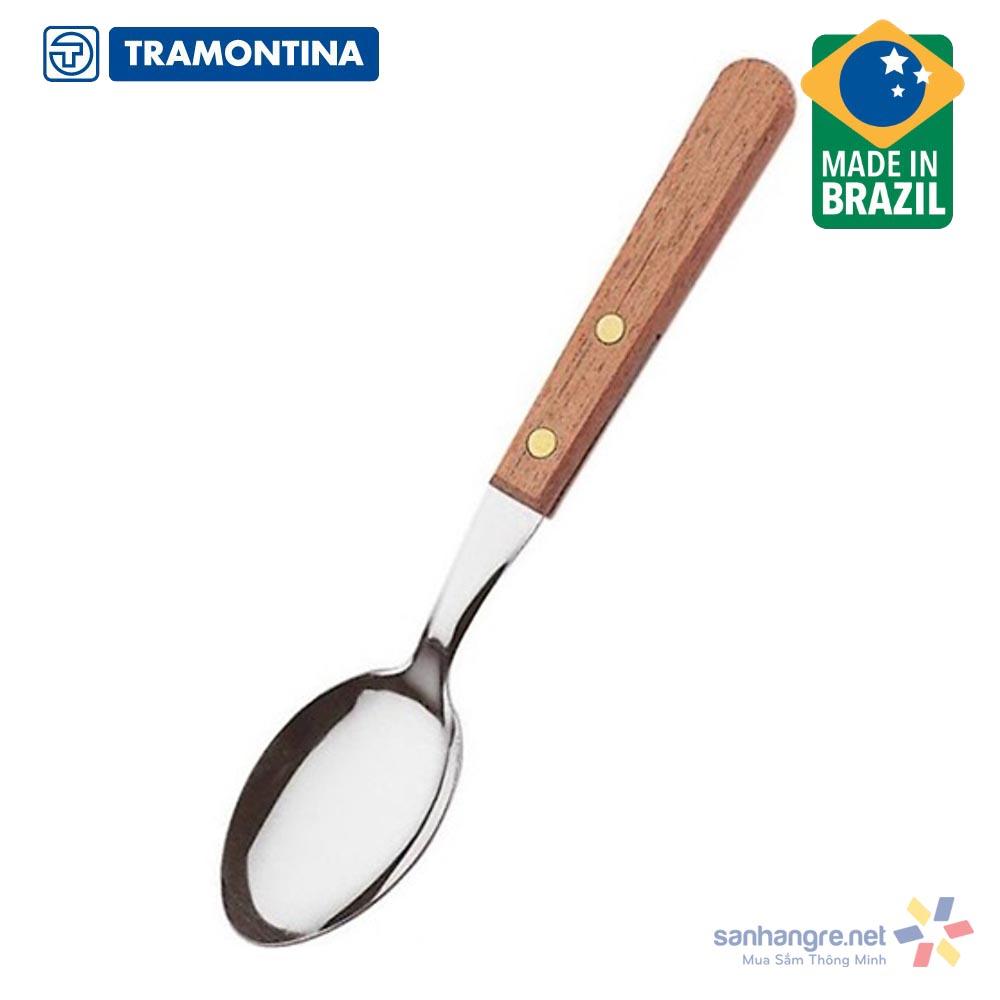 Bộ 3 thìa cafe Inox cán gỗ Tramontina Dynamic 22307/300 xuất xứ Brazil