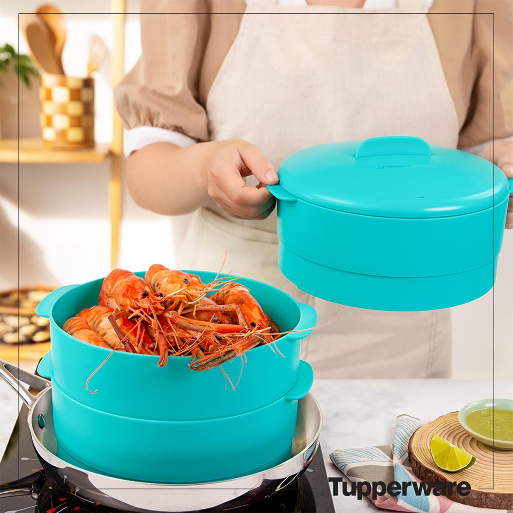 Xửng hấp 3 tầng Tupperware Steam It Paradise 20cm