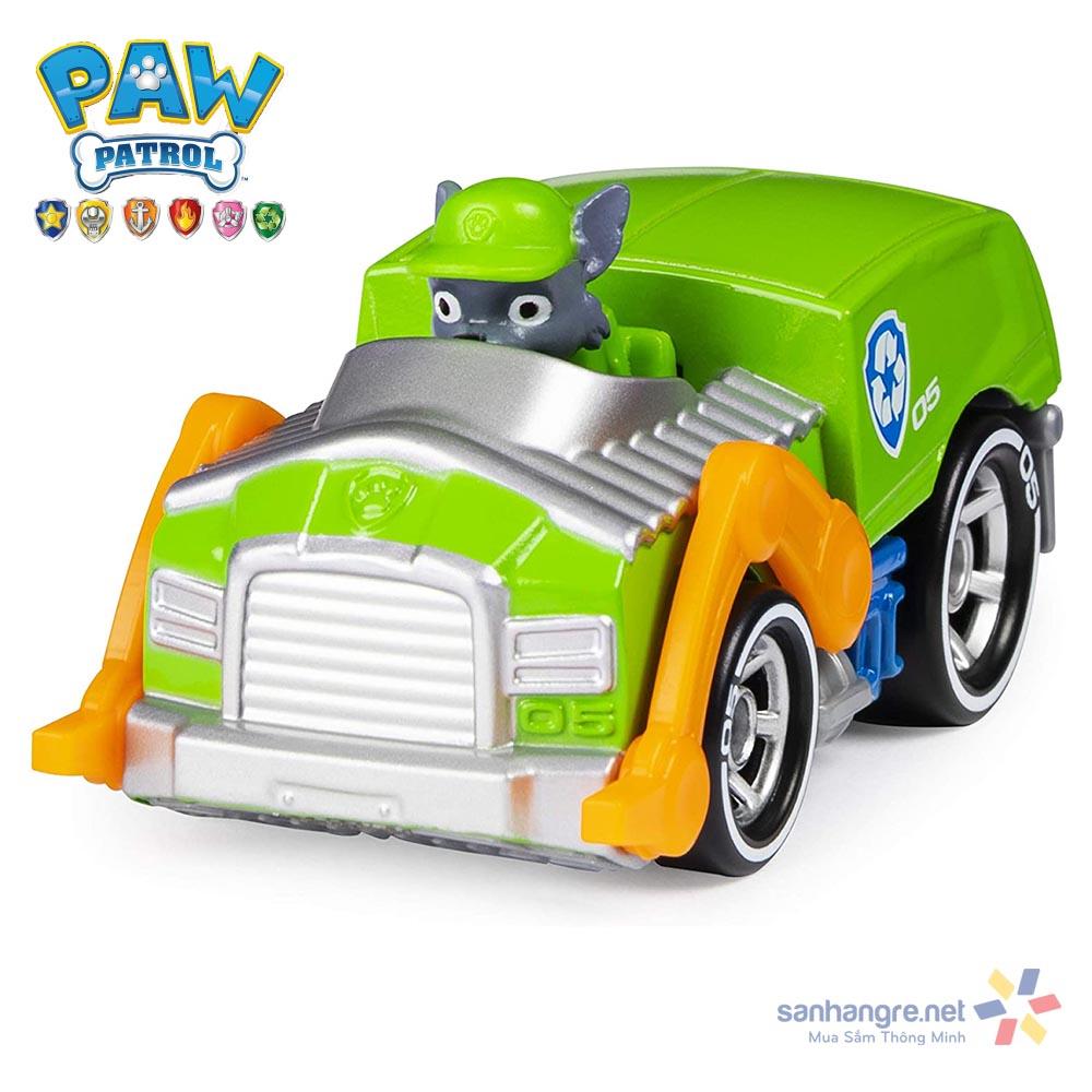 Đồ chơi mô hình Xe cứu hộ Paw Patrol True Metal tỷ lệ 1:55 - Rocky sáng tạo