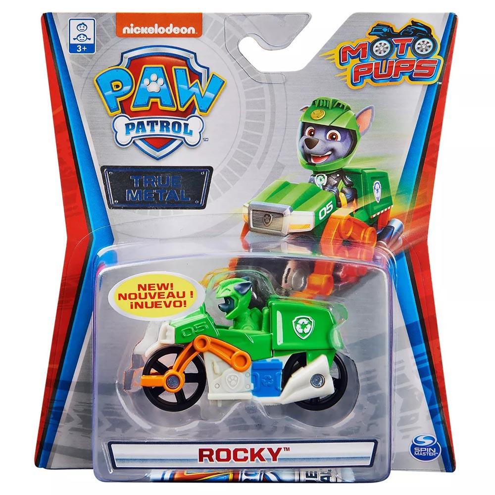 Xe mô tô cứu hộ Paw Patrol True Metal tỷ lệ 1:55 - Rocky Moto Pups