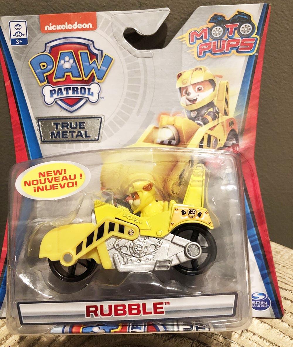Xe mô tô cứu hộ Paw Patrol True Metal tỷ lệ 1:55 - Rubble Moto Pups