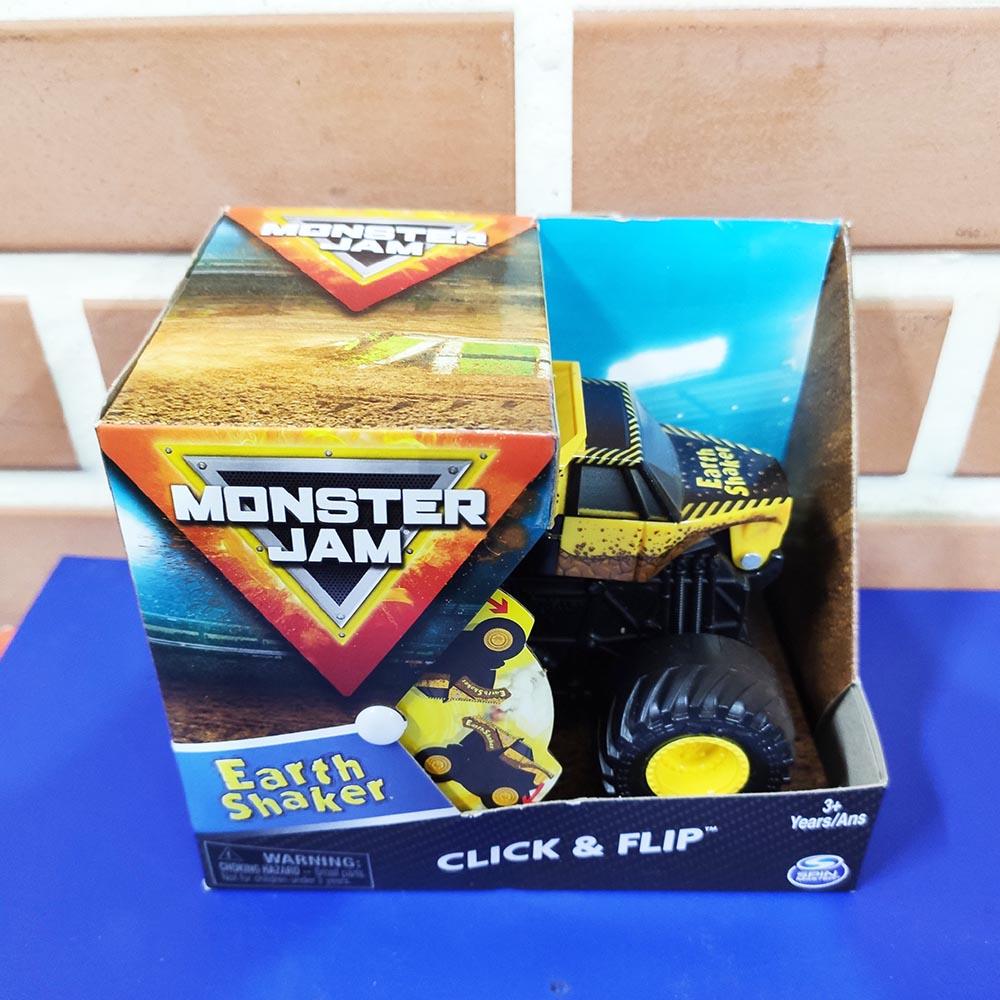 Đồ chơi Chiến xe Monster Jam Click&Flip Earth Shaker
