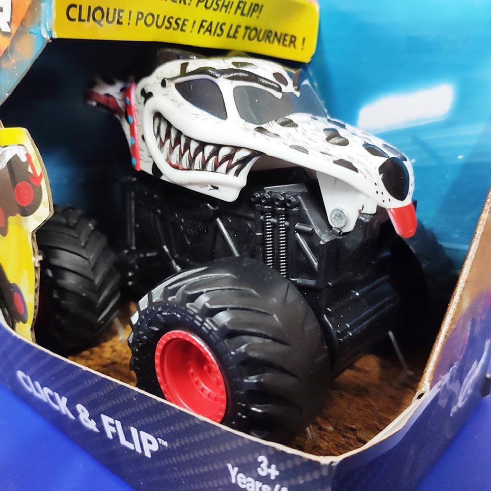 Đồ chơi Chiến xe chó đốm Monster Jam Click&Flip Mutt Dalmatian