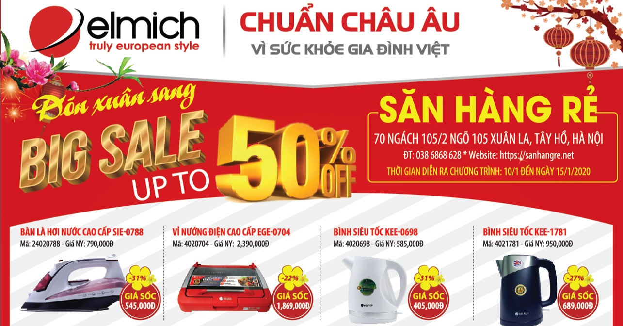 Giờ Vàng Giá Sốc - Mua chảo chống dính Elmich chỉ 9k tại Săn Hàng Rẻ Hà Nội (10h ngày 10/01 - 15/01/2020)