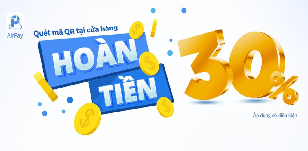 Khuyến mãi hoàn tiền tới 30% mừng Săn Hàng Rẻ kết nối với dịch vụ thanh toán AirPay QR