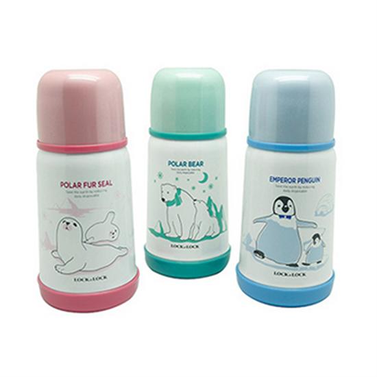 Bình Giữ Nhiệt Cho Bé Lock&Lock Kids Hot&Cool Polar Bear LHC1400-P (310ml)