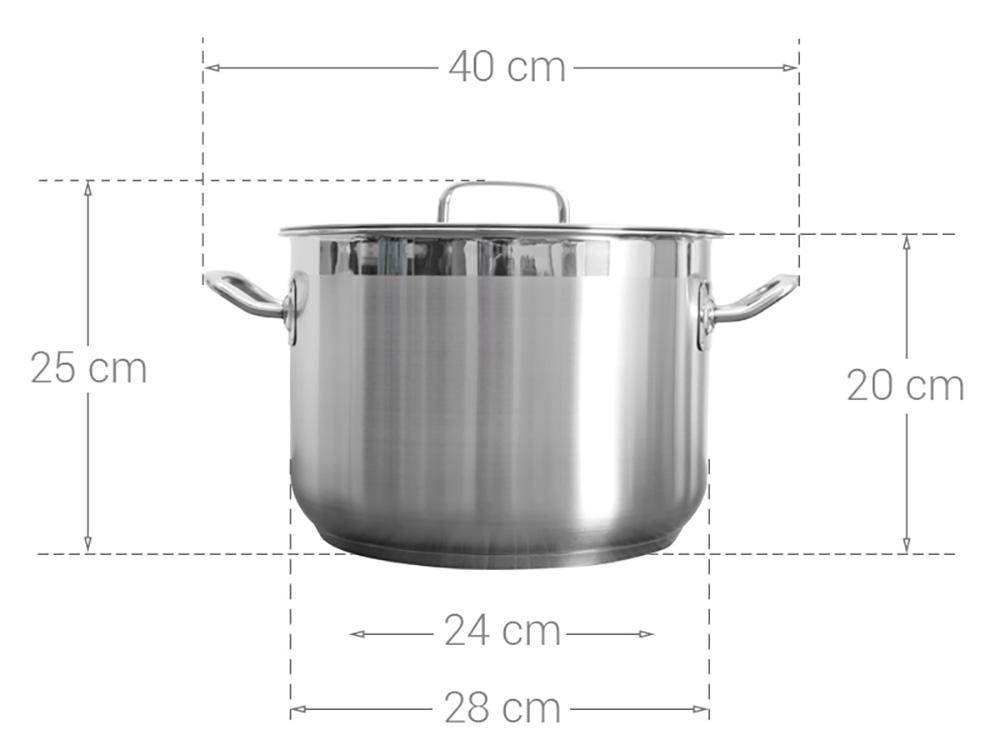 Nồi luộc gà Inox 430 thân cao 3 đáy Fivestar 28cm dùng bếp từ