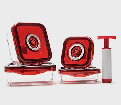 Bộ 4 hộp thủy tinh hút chân không Salsa hàng khuyến mại từ Sony