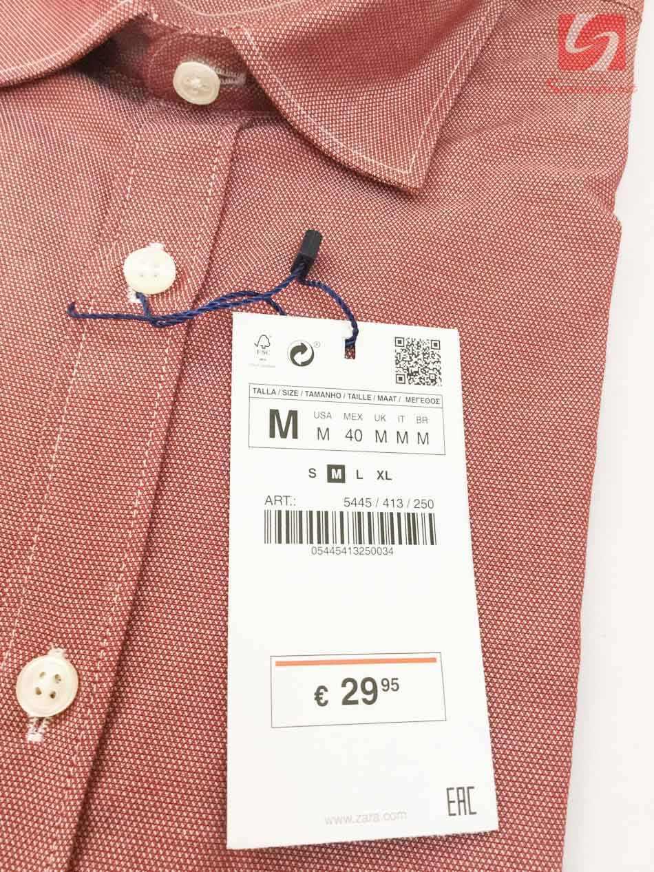 Áo sơ mi nam ngắn tay Slim Fit Zara Man hàng xuất EU