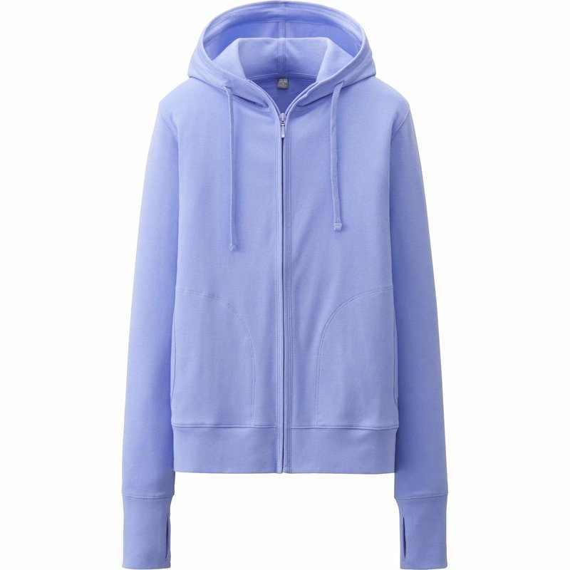 Áo chống nắng Uniqlo màu xanh