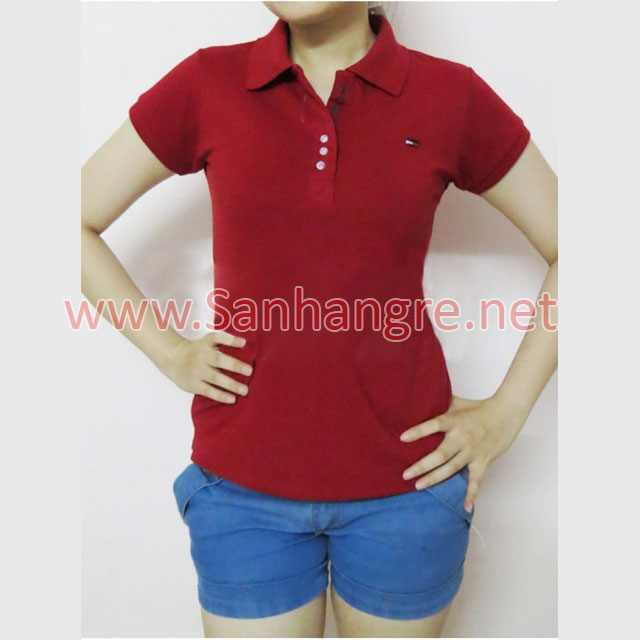 Áo thun Tommy Nữ hàng Việt Nam xuất khẩu màu đỏ đô