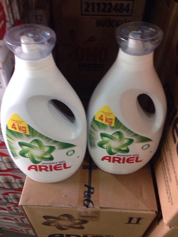 thùng 6 chai nước giặt ariel