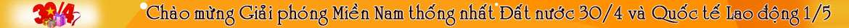 Khuyen mai chao mung 30/4 vaf 1/5