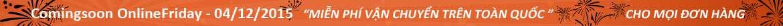 Ngày mua sắm trực tuyến OnlineFriday - 04/12/2015
