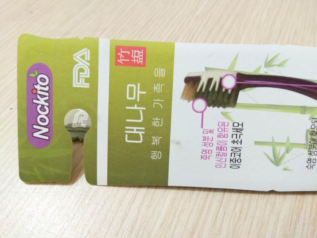 Bàn chải đánh răng muối tre Nockito Bamboo Salt chăm sóc răng e buốt Hàn Quốc