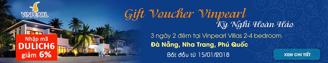 Nhập mã DULICH6 giảm 6% Voucher Vinpearl Nha Trang, Phú Quốc